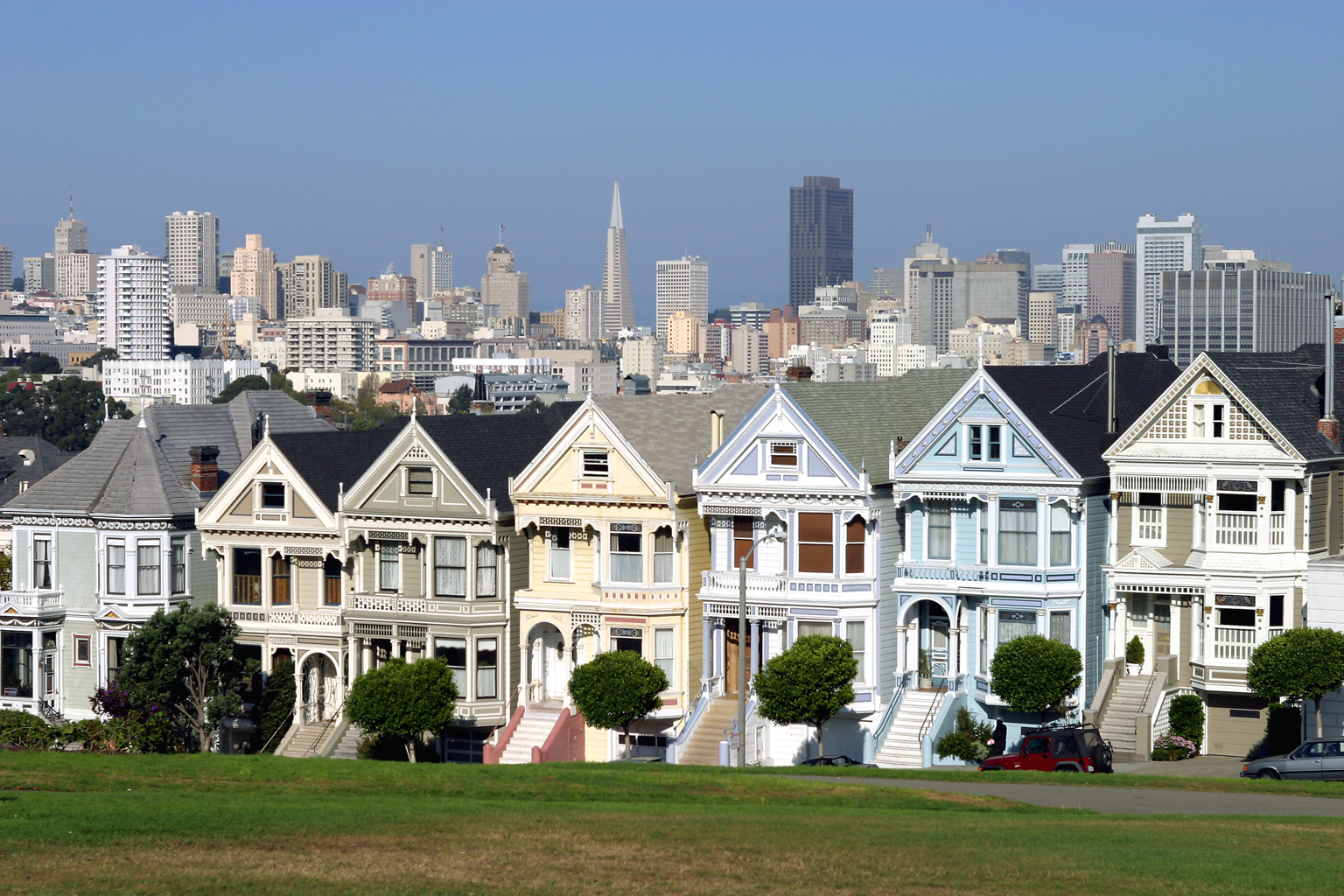 The Painted Ladies Houses
